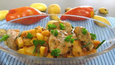 Recette Saladier de filet mignon aux pommes de terre