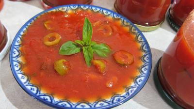 Image : recette Sauce tomates aux olives (conserve)