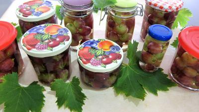 Image : recette Raisins à l'eau de vie et épices