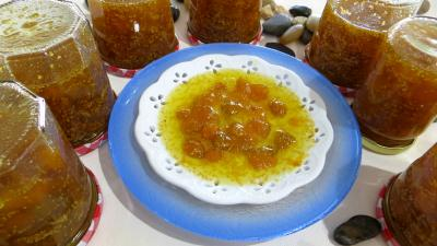 Confitures : Coupelle de confiture de physalis ou d'amour en cage