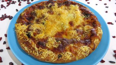 Pâte à pizza au lait : Assiette de pizza hawaïenne