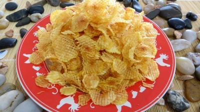 Recette Assiette de pommes de terre gaufrettes