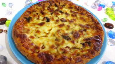 morille : Assiette de pizza forestière