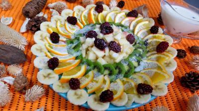 Image : assiette de kiwis