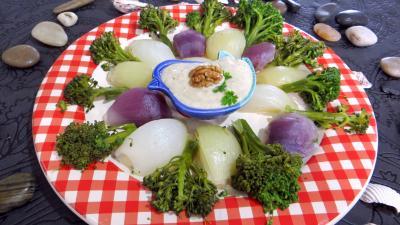 oignons et brocolis