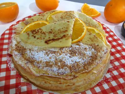 Saint Valentin : Assiette de crpes Toinette  l&#39;orange