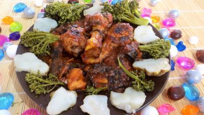 Image : Assiette de ragoût de poulet