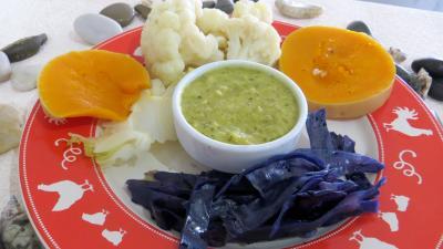 chou-fleur : Assiette de chou-fleur et légumes vapeur