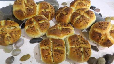 blé : Petits pains rustiques aux grains de blé