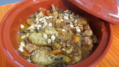 Recette Tajine de poulet aux abricots secs