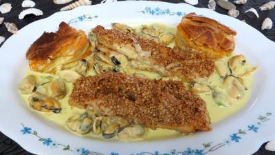 Image : Assiette de filets de sole à la crème de coco