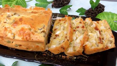 Amuse-bouche : Assiette de cake au fromage de chèvre