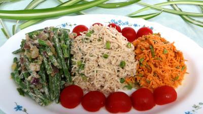 Pour débutants : Assiette de céleri rémoulade et crudités