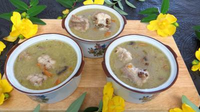 soupe : Cassolettes de lentilles à la saumonette