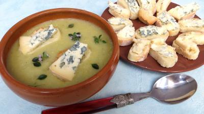 Recette Bol de crème de panais au bleur d'Auvergne