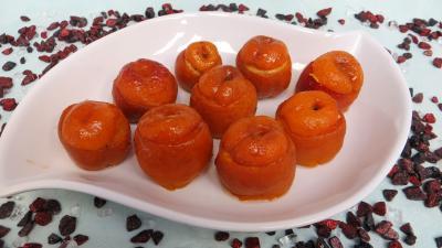 dessert : Plat d'abricots farcis à la ricotta
