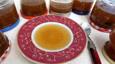 Alcool blanc : Coupelle et pot de gelée de nashis