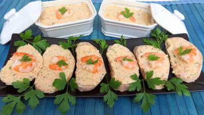 Coquillages et crustacés : Tartines et pâté de crevettes