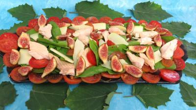 Vinaigrette à l'orange : Plat de salade de truite