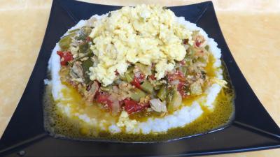 plat complet : Assiette d'oeufs aux poireaux