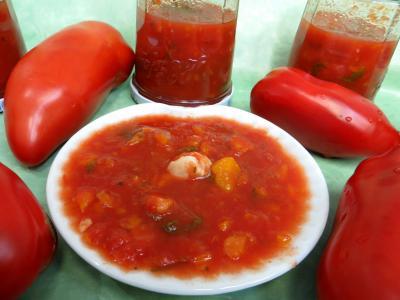 sauce pour pâtes : Coupelle de sauce tomates aux carottes