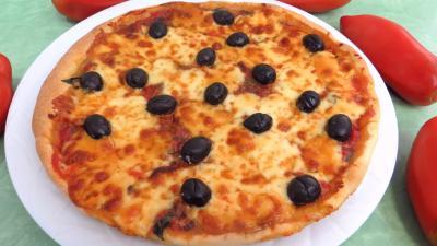 Olive noire : Pizza aux blettes