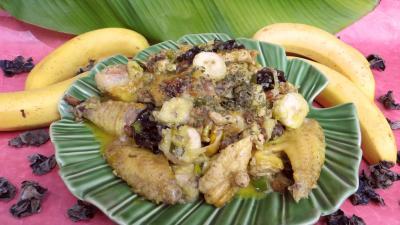 Recette Plat de poulet aux bananes