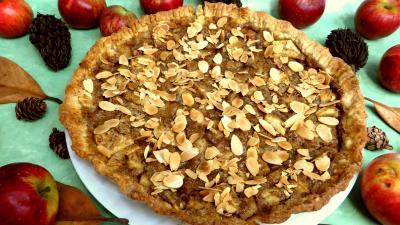 Cuisson au grill : Tarte aux pommes et aux amandes