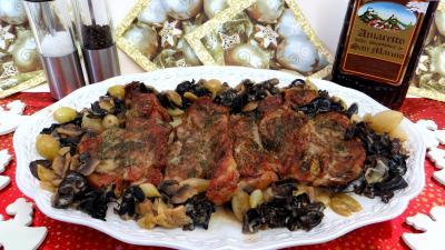 Image : Plat de côte de veau à l'amaretto