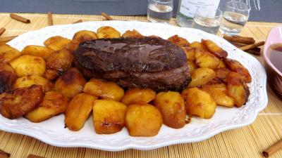 gibier : Assiette de bison aux pommes