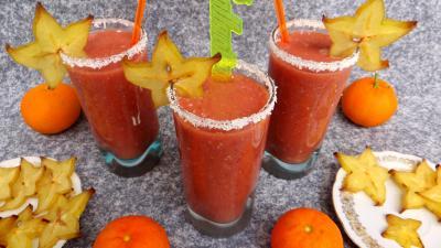 Image : Verres de cocktail à la grenade