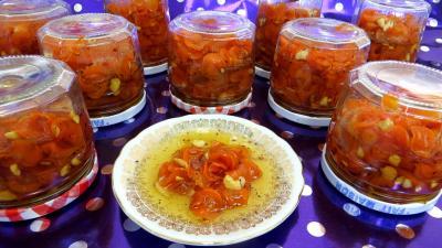 noix de cajou : Pots de confiture de carottes