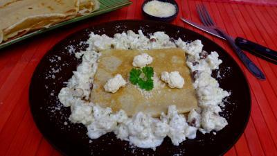 beurre allégé salé : Crêpe au chou-fleur