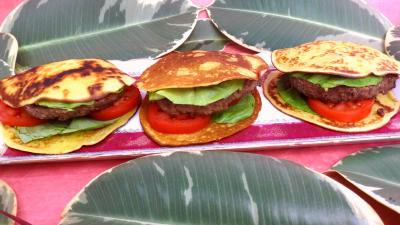 Recette Plat de pancakes façon hamburger