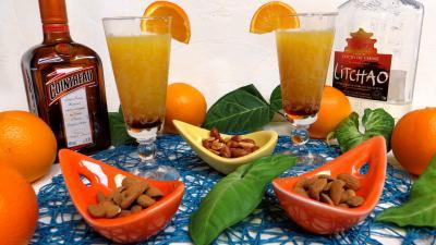 cointreau : Verres de punch orange-ananas