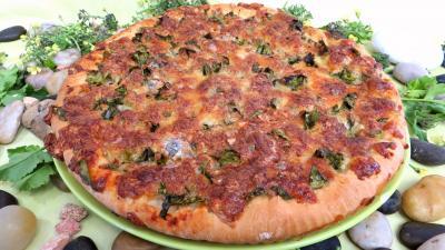 Pour débutants : Pizza aux broutes