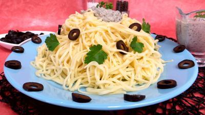 Sauces : Nouilles à la crème d'olives