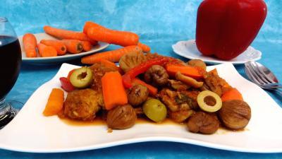 vinaigre balsamique : Filet de porc aux châtaignes