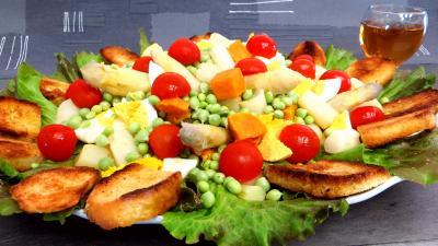 Entrées froides : Petits pois en salade