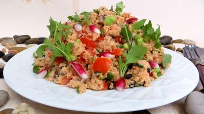 Sauce tomates aux champignons : Assiette de taboulé