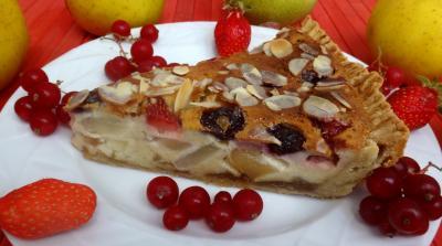 farine type 55 : Morceau de tarte aux fruits