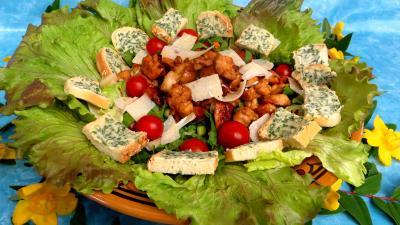 Entrées & salades : Salade aux blancs de poulet