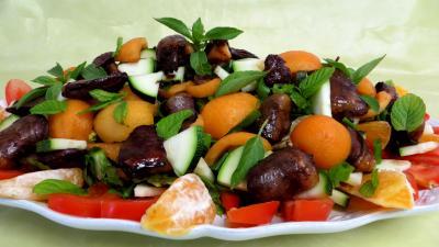 Entrées & salades : Salade de nèfles