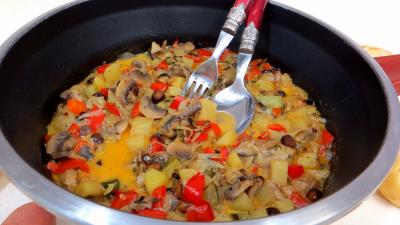 cidre : Blanquette de pommes de terre