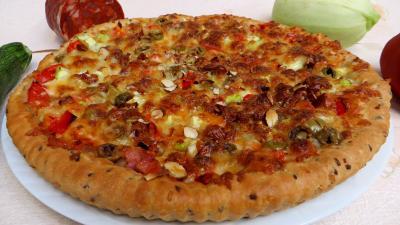 Image : Pizza aux courgettes