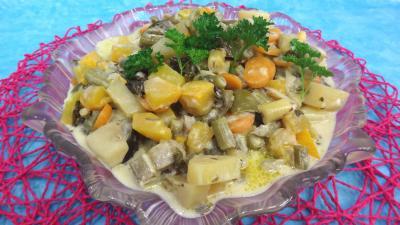 Légumes : Plat de sauté de potimarron et légumes