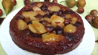 Desserts : Assiette de tatin aux figues et poires