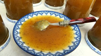Confitures : Coupelle de gelée de poires