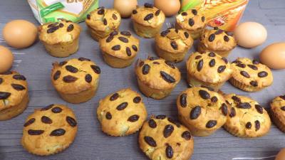 farine type 55 : Muffins aux poires
