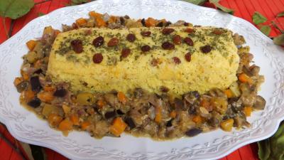 plat sucré salé : Plat de polenta aux légumes